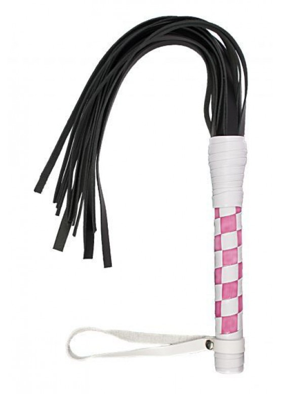 sLash - Флогер VIP Leather Flogger White&Light Pink