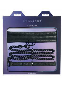 Ошейник с поводком Sportsheets Midnight Lace Collar and Leash