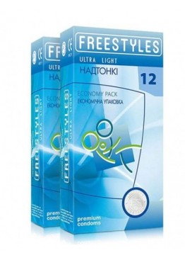 Freestyles Презервативы FREESTYLES ULTRA LIGHT 12 штук