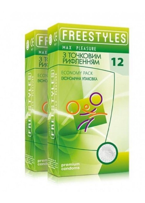 Freestyles Презервативы FREESTYLES MAX PLEASURE 12 штук