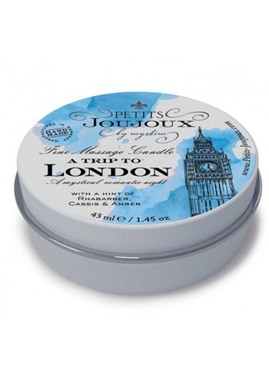 Массажная свечa Petits Joujoux - London - Rhubarb, Cassis and Ambra (43 мл) с афродизиаками